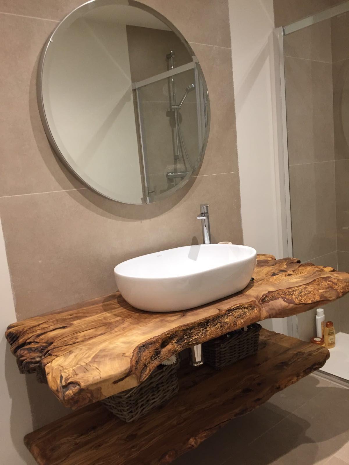 Encimeras de ba o for Mesada madera para bano